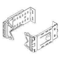 2 1 2 inch wide dauphine curtain rod brackets 6 to 8 1 2 inch projection white 1 pair