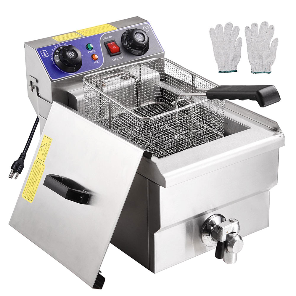 kitchener triple basket deep fryer build your own kitchen outdoor appliances tips and review yescom 11 7l 1500w electric countertop machine walmart com