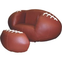 Football Chair and Ottoman Set
