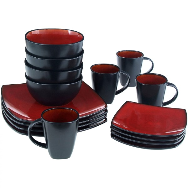 Homes & Gardens 16-piece Dinnerware Set Tuscan Red