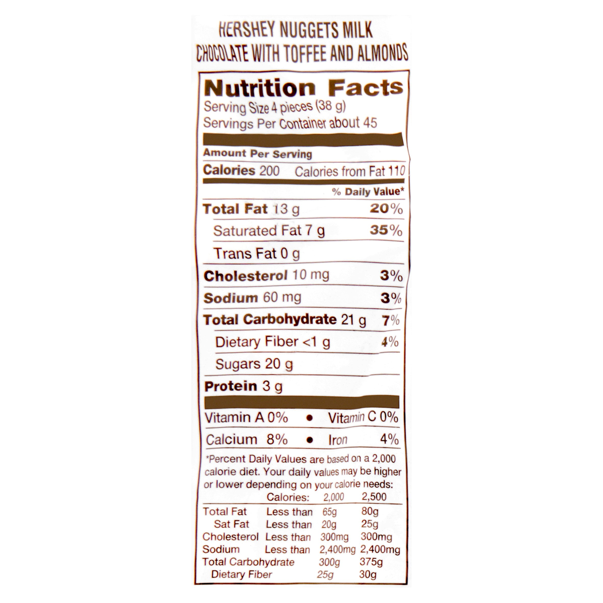 Almond Hershey Kisses Nutrition Facts Nutrition Ftempo