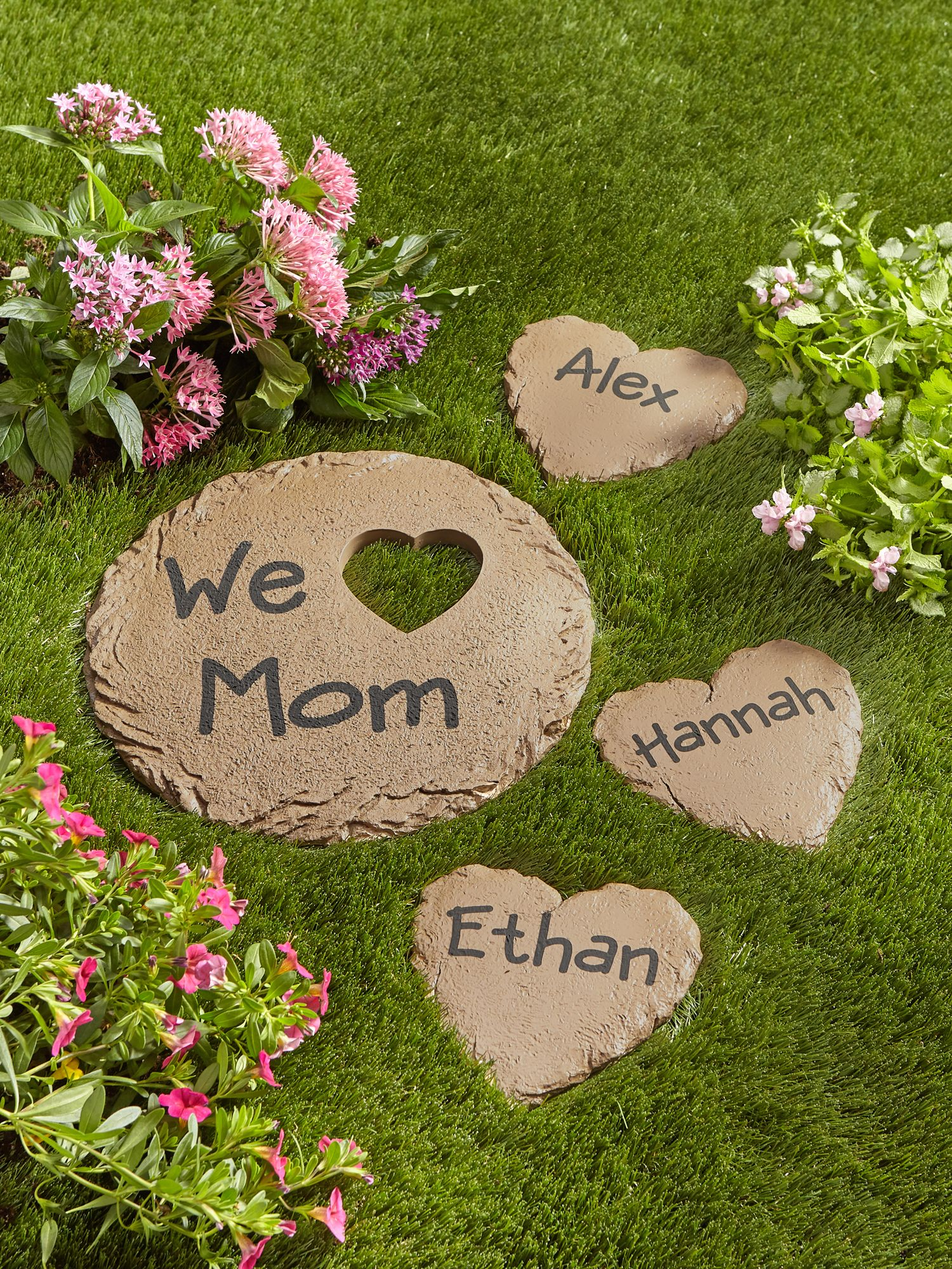 personalized garden heart and