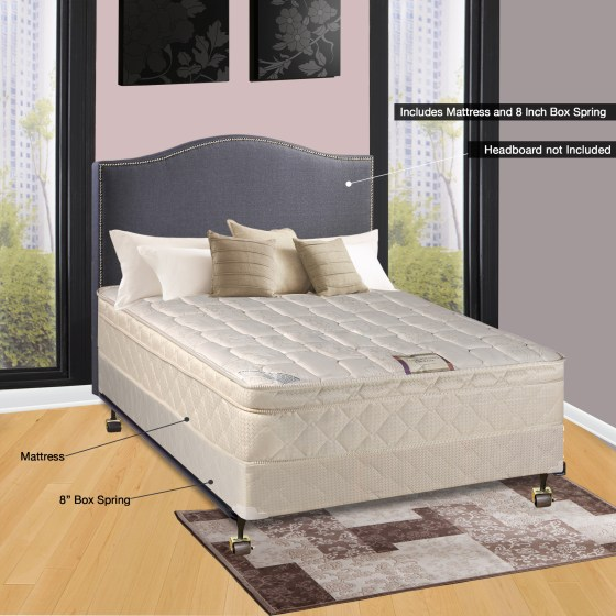 Spinal Solution 9 Pillowtop Fully Assembled Orthopedic Mattress And Box Spring Twin