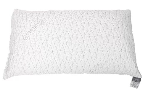 coop home goods premium adjustable loft shredded hypoallergenic certipur memory foam pillow with signature ultra tech washable removable cooling