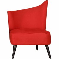 Elegant Accent Chair with Flaired Back, Red Microfiber ...