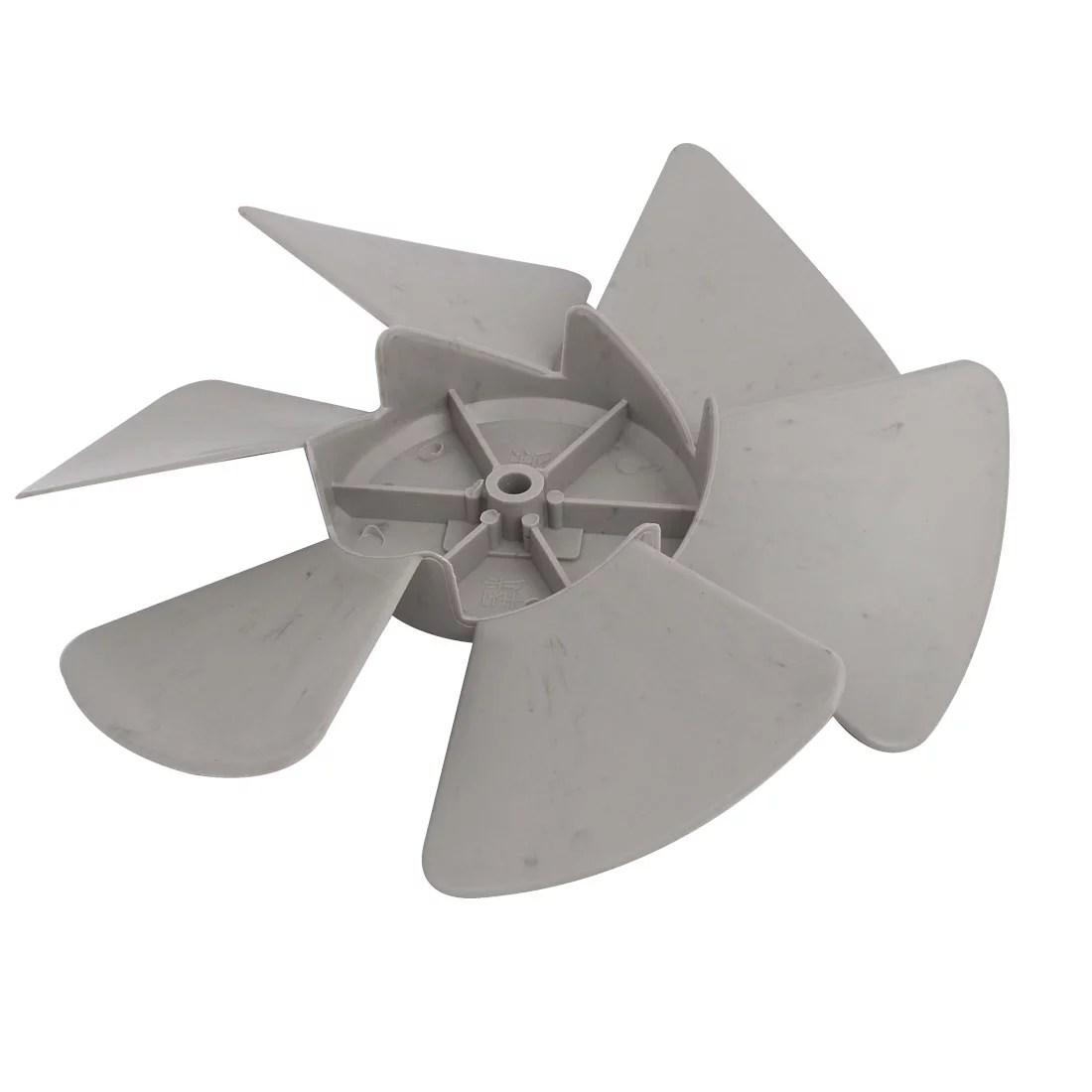kitchen fan black cabinets unique bargains 230mm dia 8mm shaft diameter plastic home ventilator vane gray