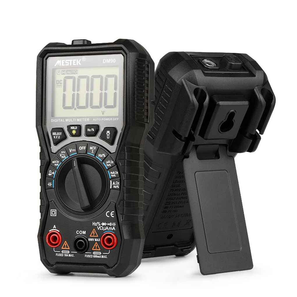 hight resolution of mestek dm90 mini digital multimeter auto range ac dc voltage current frequency capacitance ncv multi meter tester walmart com