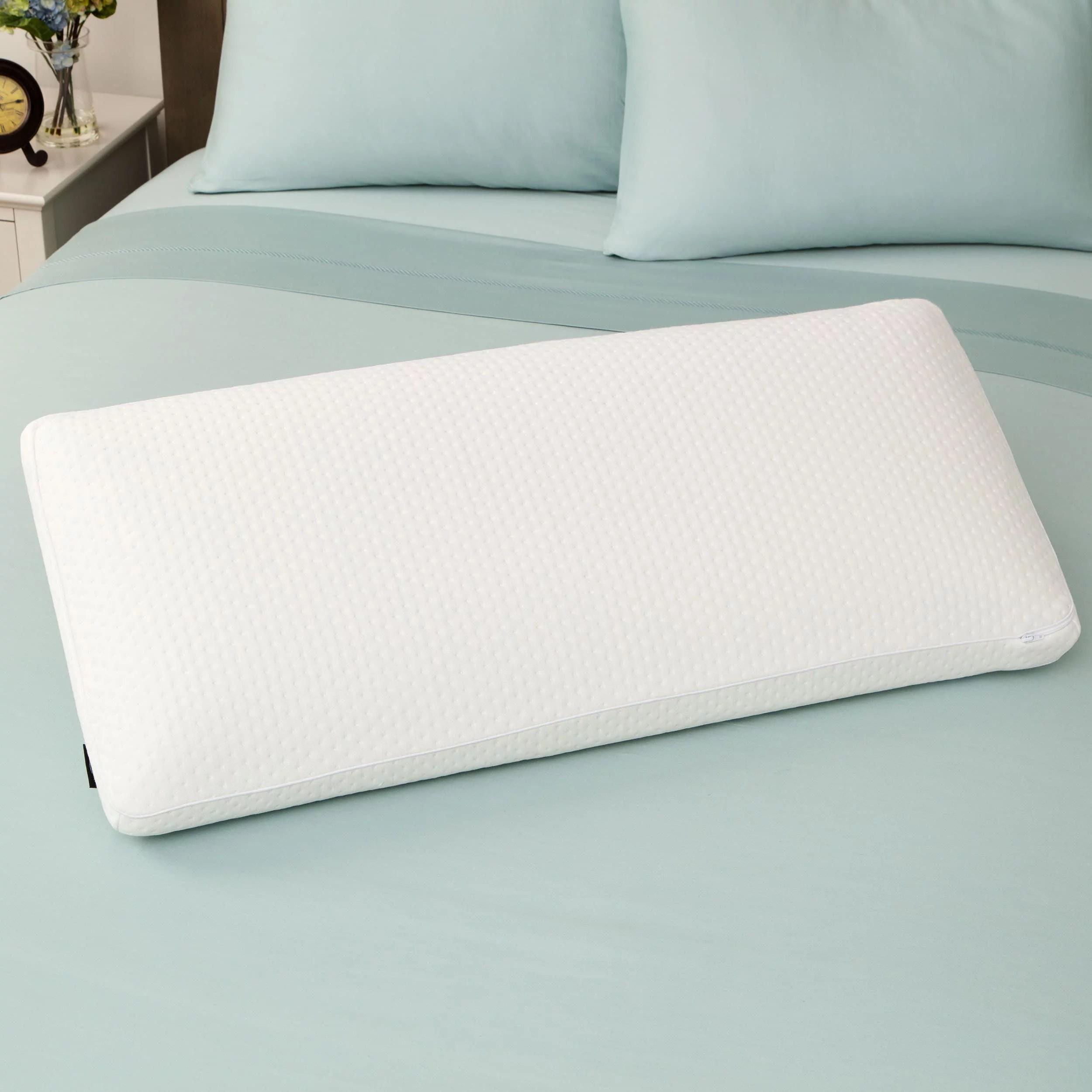 swisslux euro style luxury king size memory foam pillow white