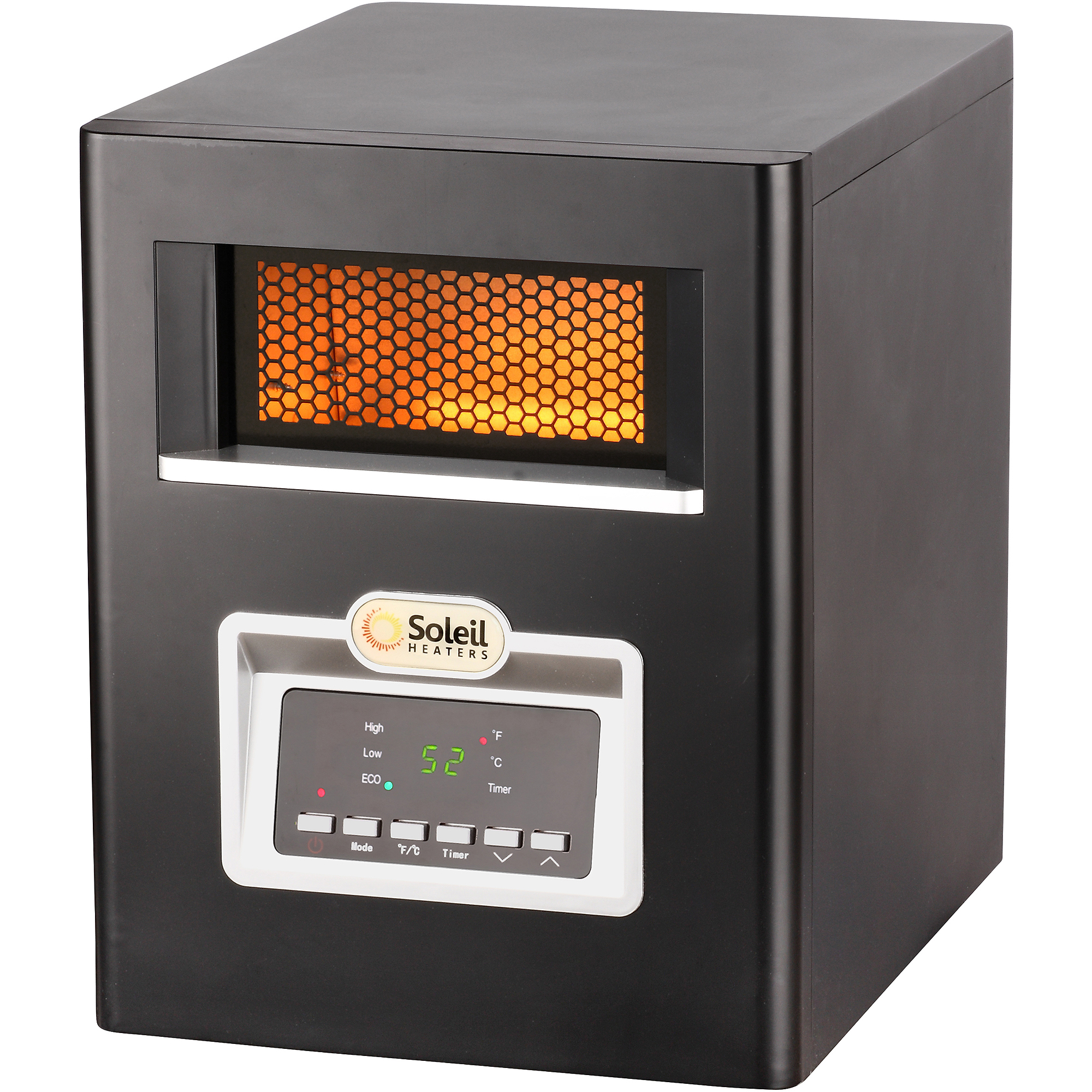 hight resolution of soleil electric infrared cabinet space heater 1500w ph 91f walmart com