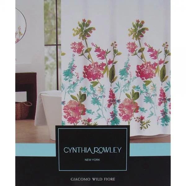cynthia rowley floral fabric shower curtain giacomo wild fiore