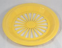 Plastic Paper Plate Holders, Set of 4 (Yellow)