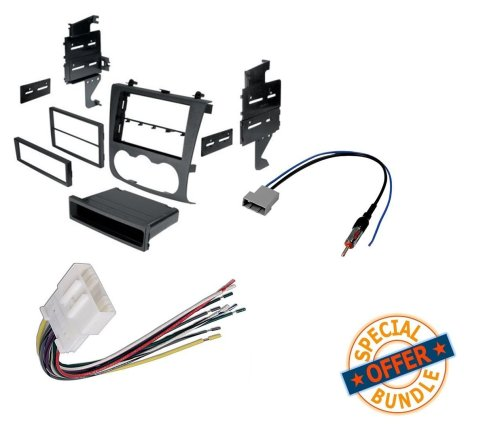 small resolution of nissan altima 2007 2011 double din radio stereo installation dash kit wire harness and antenna adatper walmart com
