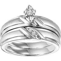 Forever Bride 1/20 Carat T.W. Diamond Sterling Silver ...