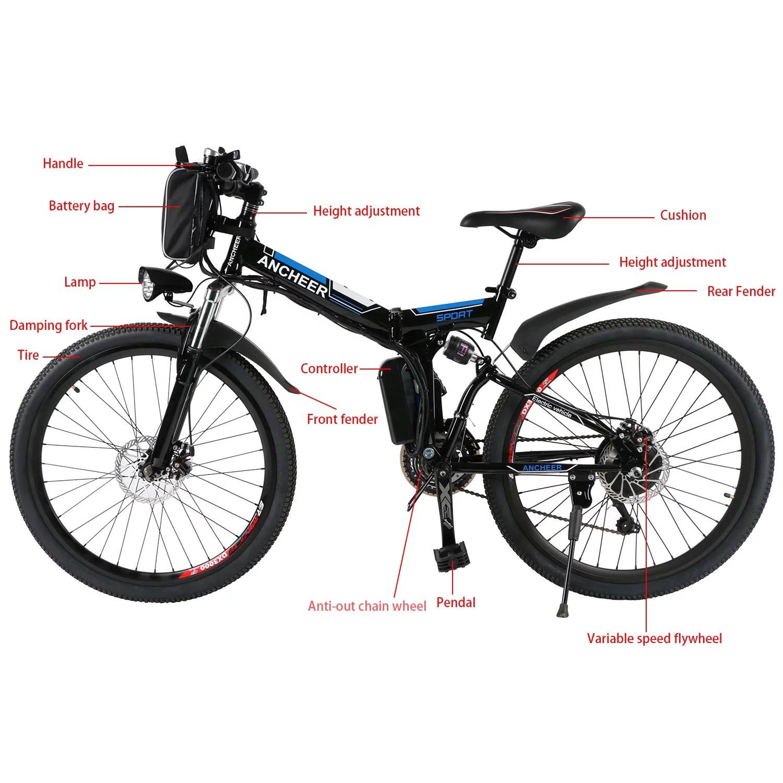 26 36v Foldable Bike Electric Power Mountain Bike Bicycle