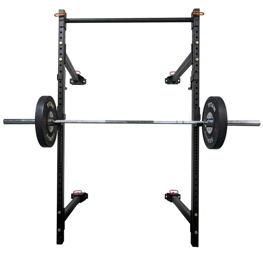 titan t 3 series short folding power rack 41 depth for pull ups squats and strength training
