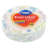"Great Value Everyday Premium Paper Plates, 6"", 48 Count ..."