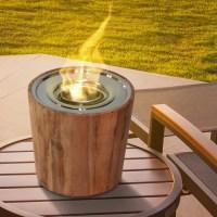 Anywhere Fireplace Sag Harbor Teak Gel Tabletop Fireplace ...