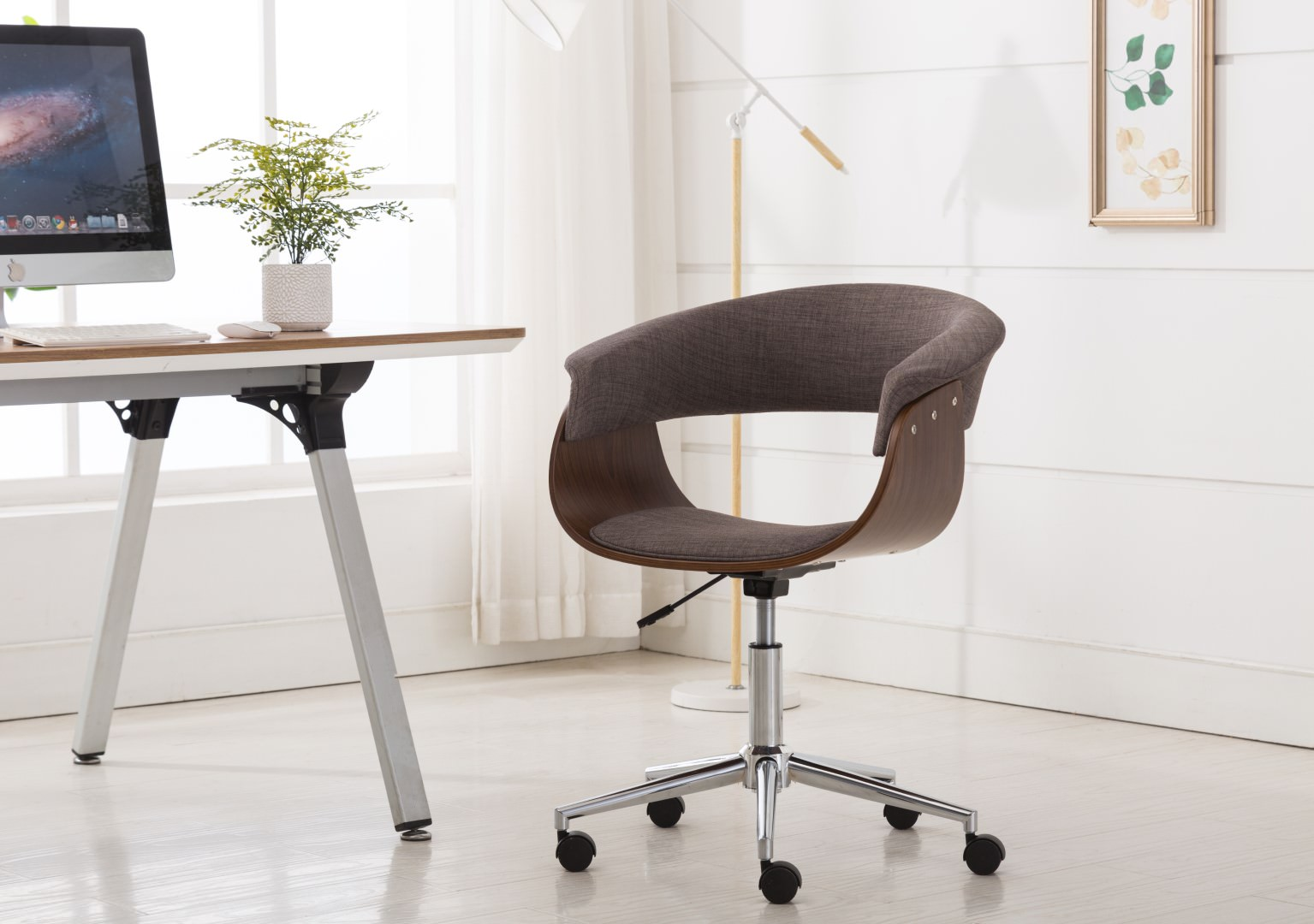 Comfy Office Chairs Porthos Home Office Chair Deluxebentwood Styleoffice Chairs With Arms Caster Wheels 360 Degree Swivel Height Adjustable Comfy Hemp