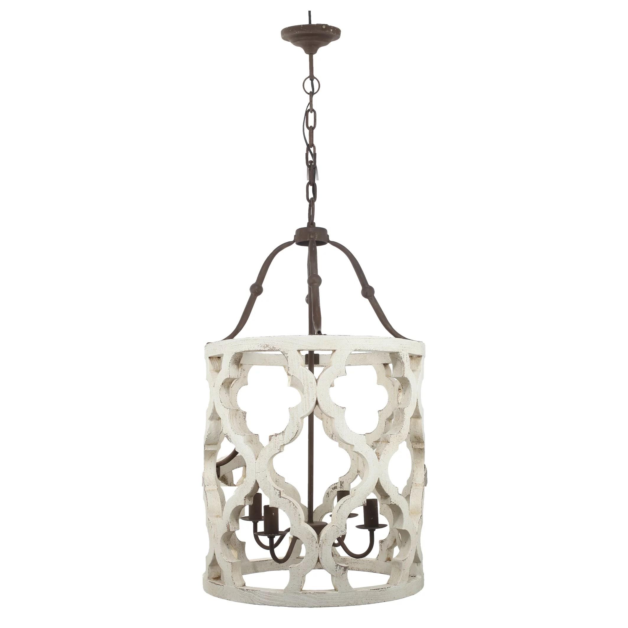 a b home jolette 4 light chandelier wood