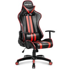 Desk Chair At Walmart Infant Sleeper Merax Racing Style Ergonomic Swivel Leather Gaming And Office Com