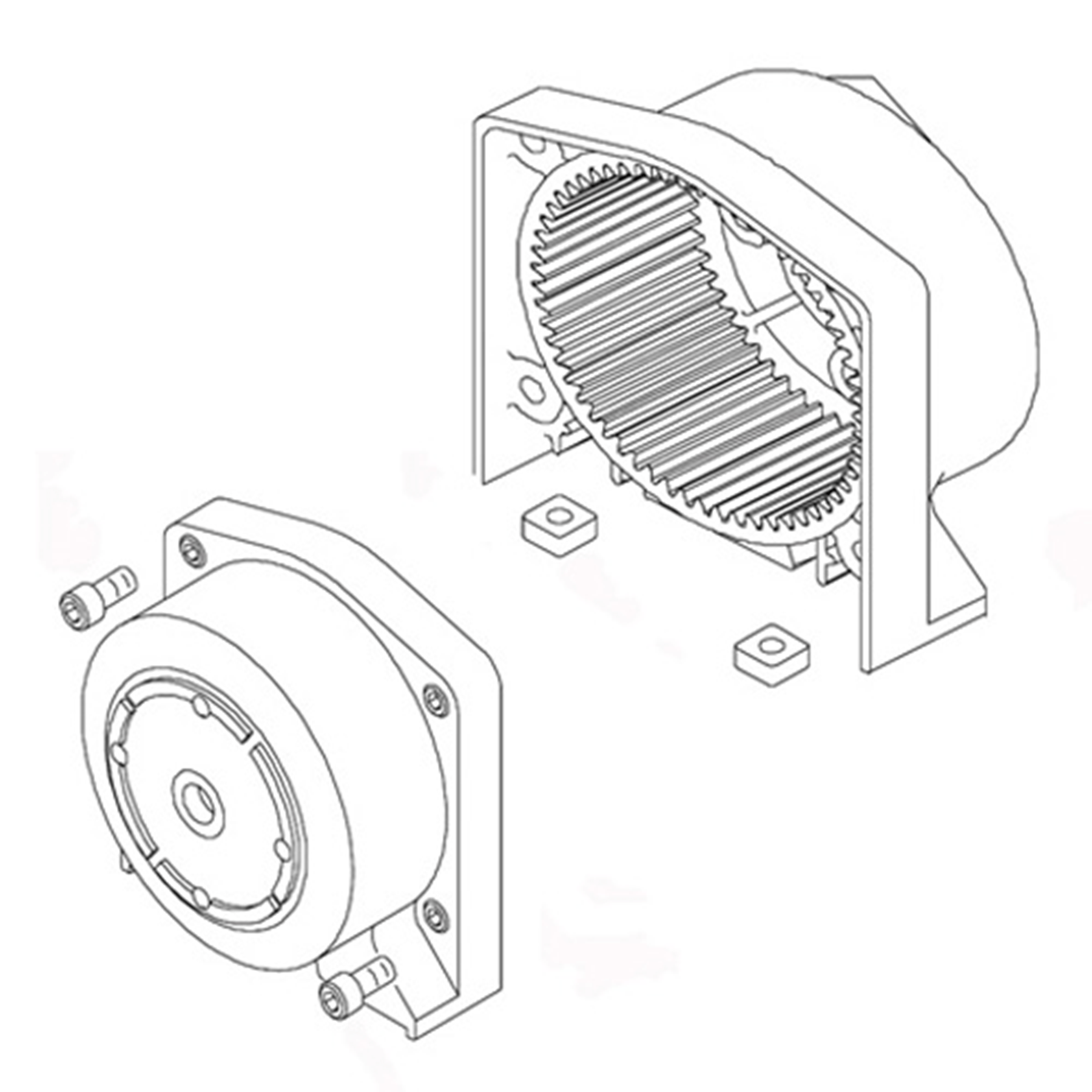 Repl End Housing Amp Clutch Assembly For Winch Pair