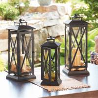 Better Homes and Gardens Crossbar Metal Outdoor Lantern ...