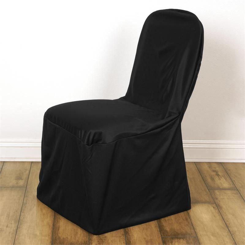 large banquet chair covers baby bean bag chairs personalised linen polyester wedding cover black walmart com