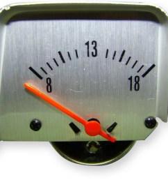 american autowire voltmeter ammeter replacement gm f body 1968 69 p n 510121 walmart com [ 1023 x 900 Pixel ]