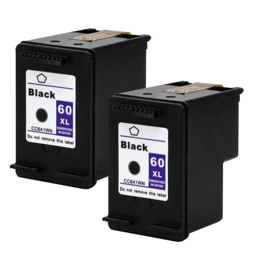 small resolution of e z ink remanufactured hp 60xl 60 xl cc641wn high yield 2 black for deskjet