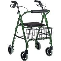Go Lite Deluxe Rollator Walker -Color:Green - Walmart.com