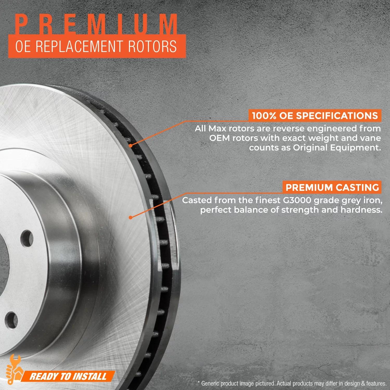 hight resolution of max brakes front rear oe series rotors premium brake rotors sy064943 fits 2001 01 2002 02 chevy blazer 4wd models
