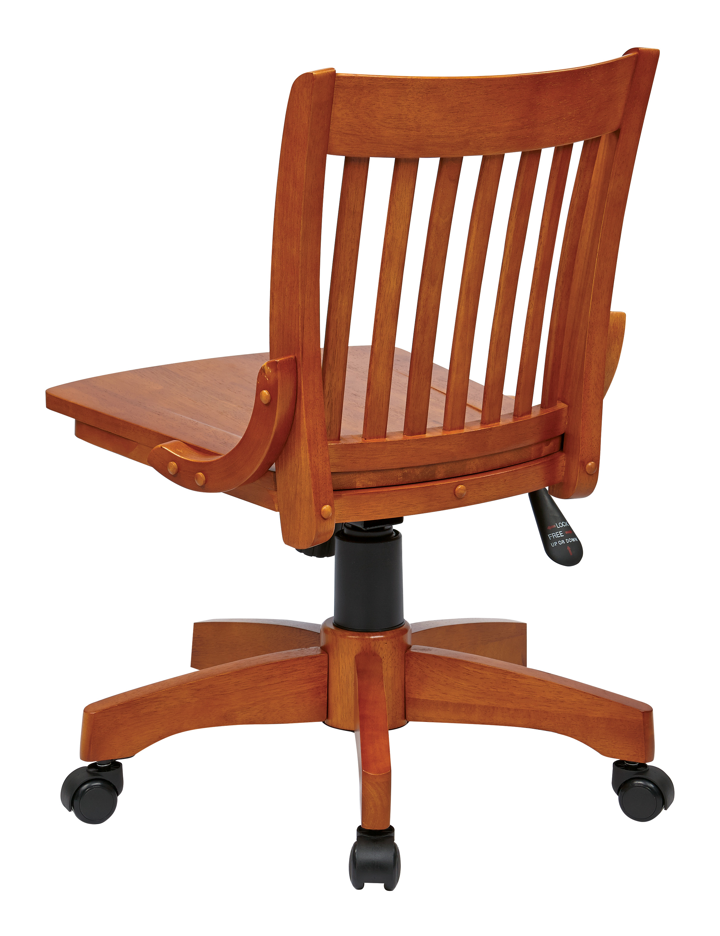 Deluxe Armless Wood Bankers Chair Walmart Com