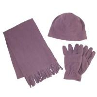 Grand Sierra Women's Fleece Hat Gloves and Scarf Winter