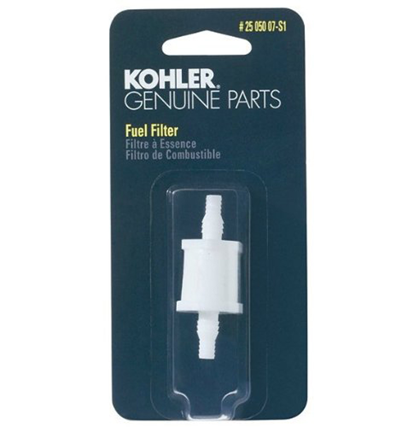 medium resolution of kohler 25 050 07 s engine fuel filter 75 micron with 3 16 1 4 4 fuel line i d walmart canada