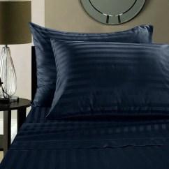 Sofa Sheets Air Dream Sleeper Reviews Twin Sheet Set 36 X 72 6 Deep Stripe Navy Blue 1800 Series Brushed Microfiber By The Great American Store Walmart Com