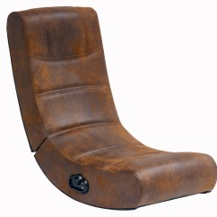 Rocking Game Chair Diy Flower Sash 2 Audio X Rocker Gaming In Distressed Brown Suede