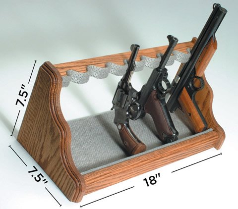 liberty 8 gun oak pistol rack silver 2414 002