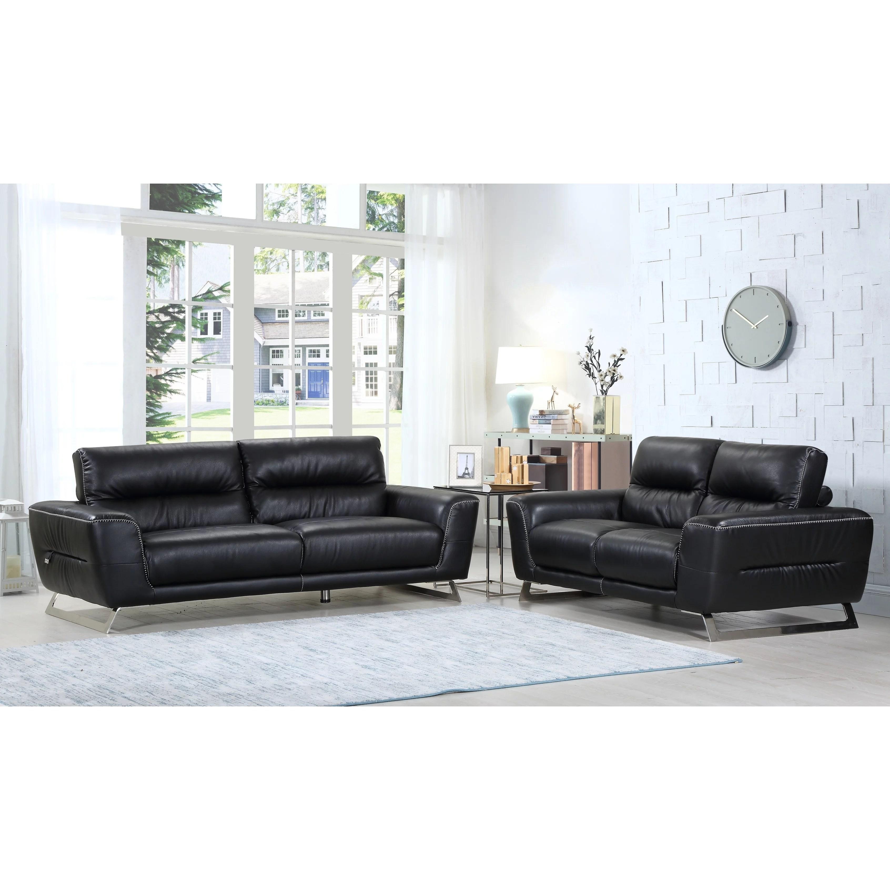 living room furniture leather and upholstery ergonomic divanitalia torino luxury italian upholstered 2 piece sofa set walmart com