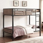 Walker Edison Twin Over Twin Rustic Wood Bunk Bed Brown Walmart Com Walmart Com