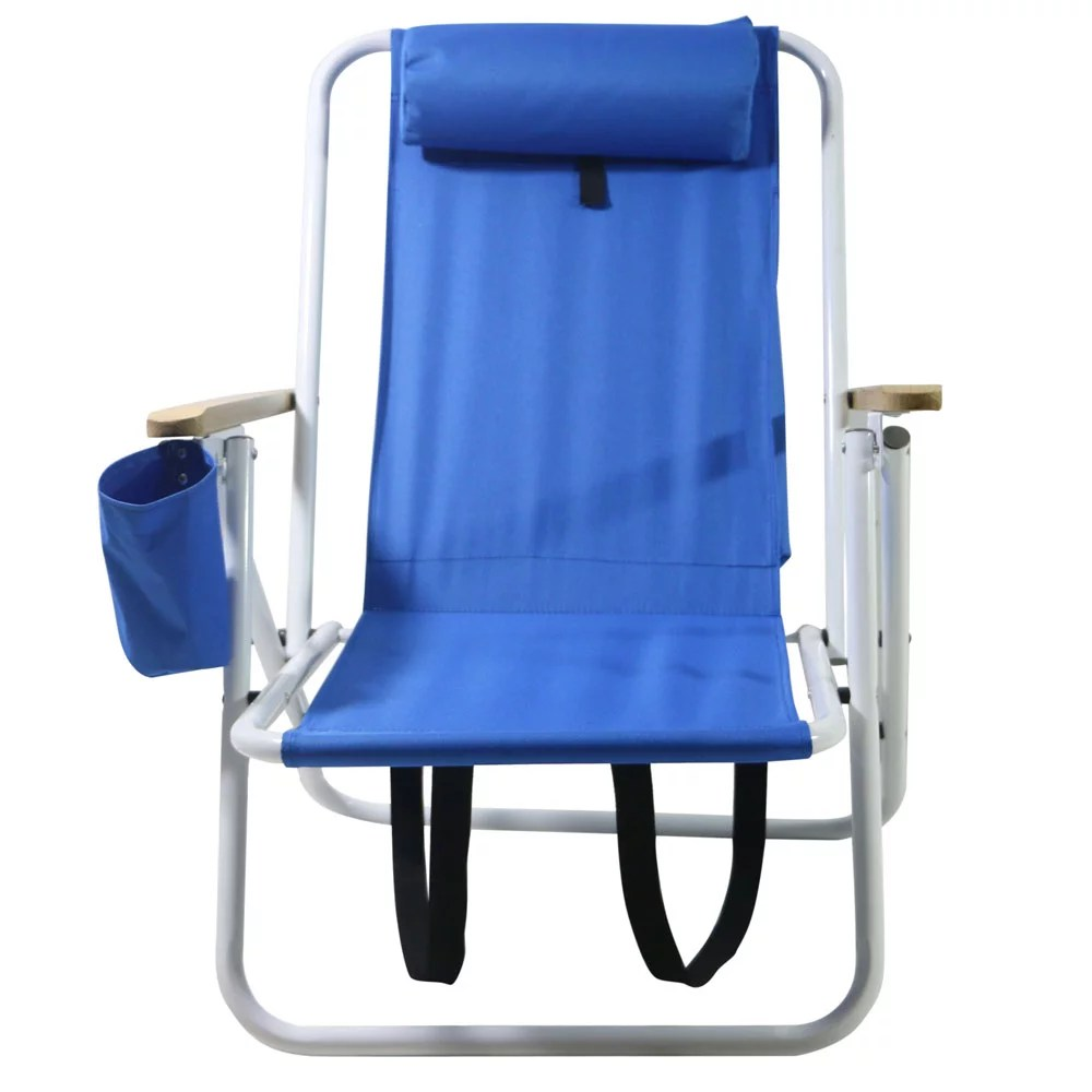 back pack beach chairs chair cart zimtown backpack folding portable blue solid construction camping walmart com