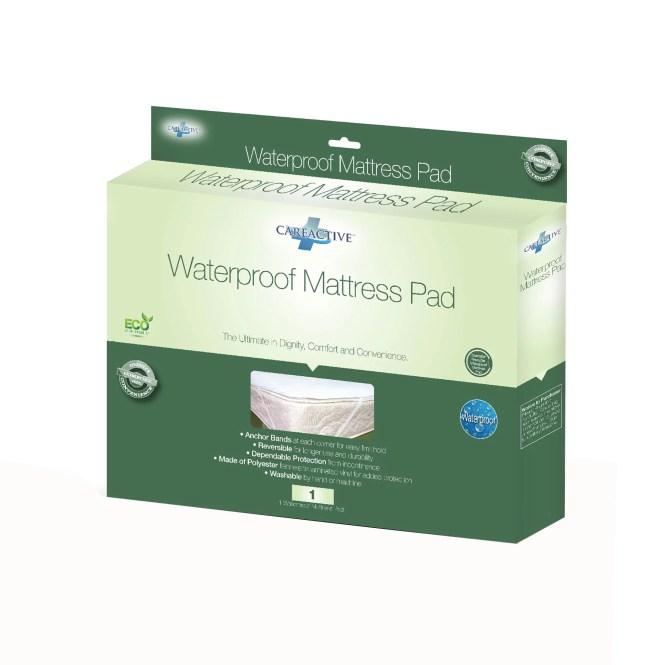 Careactive Waterproof Reusable Incontinence Mattress Pad Protector
