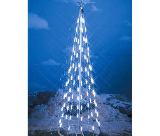 Homebrite  Inch White Led String Light Christmas Tree Cone  Feet Indoor Outdoor Decor
