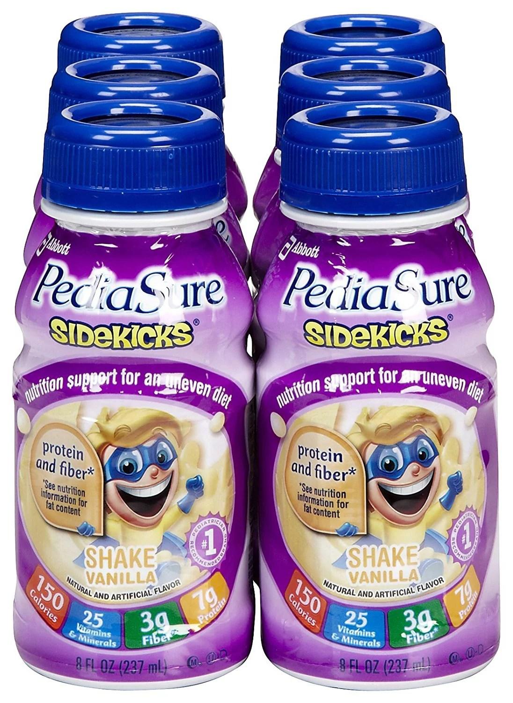 Pediasure Sidekicks Vanilla Shake 8 Oz Bottle Pack of