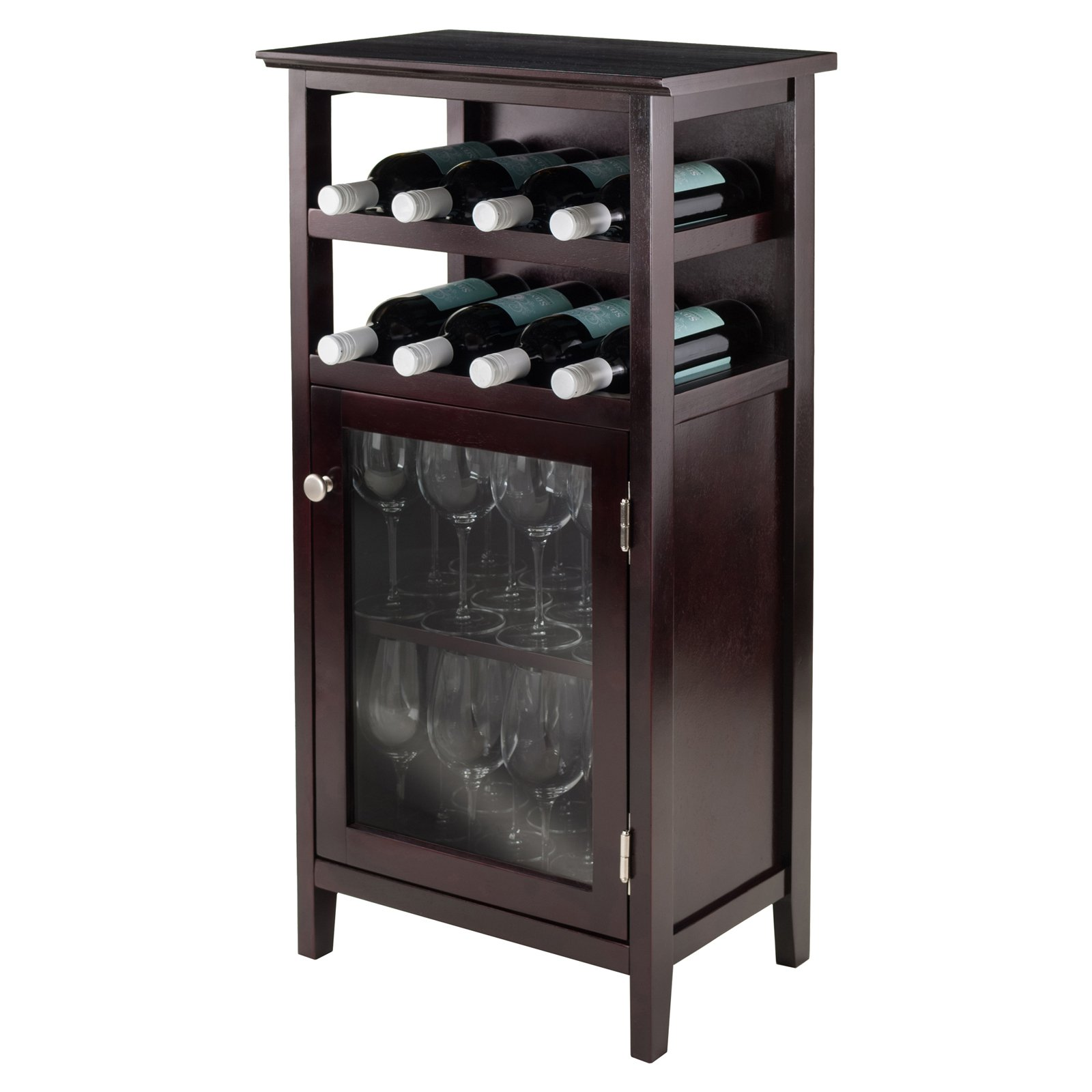 Winsome Wood Alta Display Wine Cabinet Espresso Finish