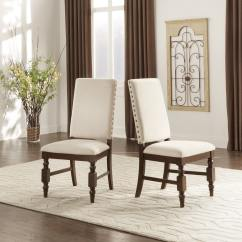 Nailhead Upholstered Dining Chair Skirted Chairs Inspire Q Flatiron Nailad Set Of 2 By Classic Walmart Com