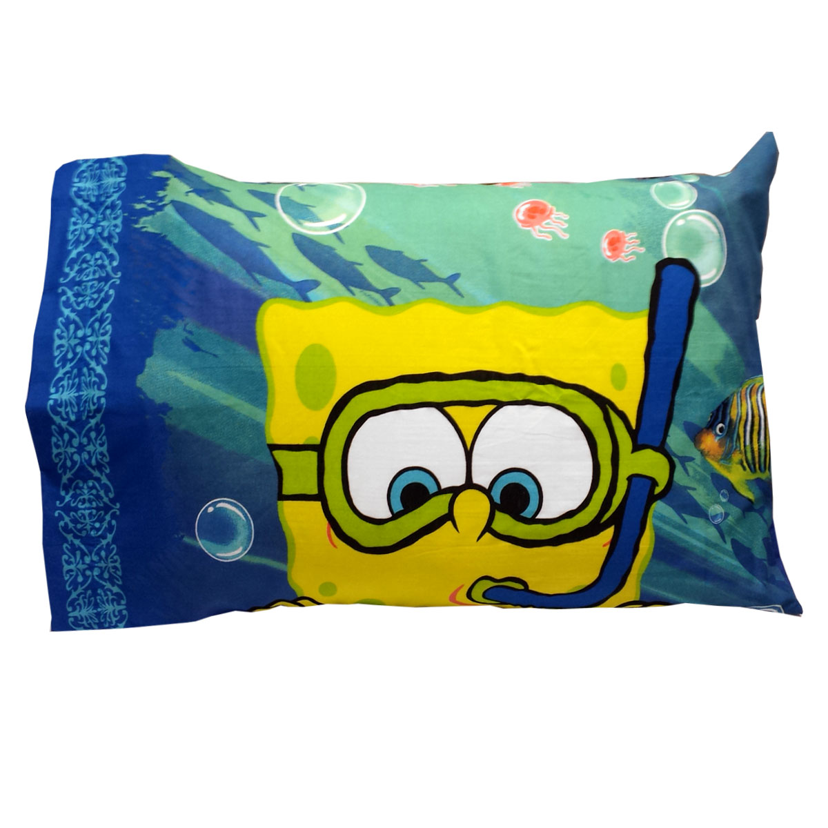 spongebob squarepants pillowcase sea adventure pillow cover walmart com