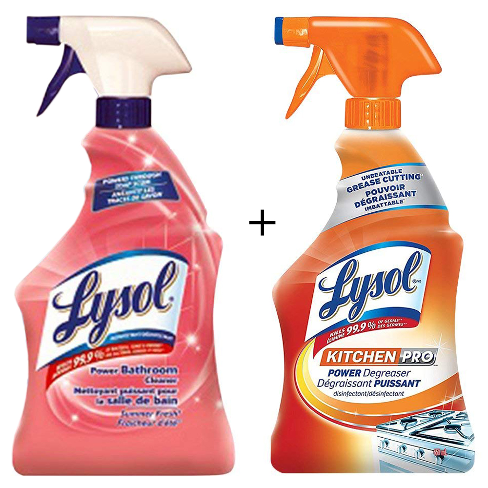 lysol antibacterial kitchen cleaner hutch ideas bathroom summer fresh trigger 950ml qty
