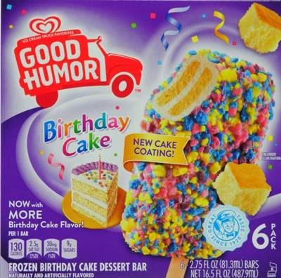 Birthday Cake Good Humor Bars