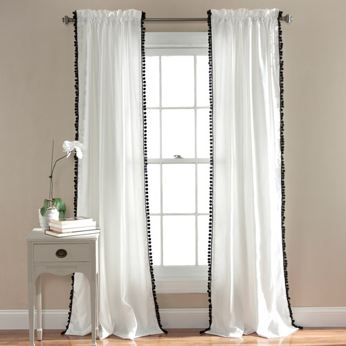 Pom Pom Window Curtains Set