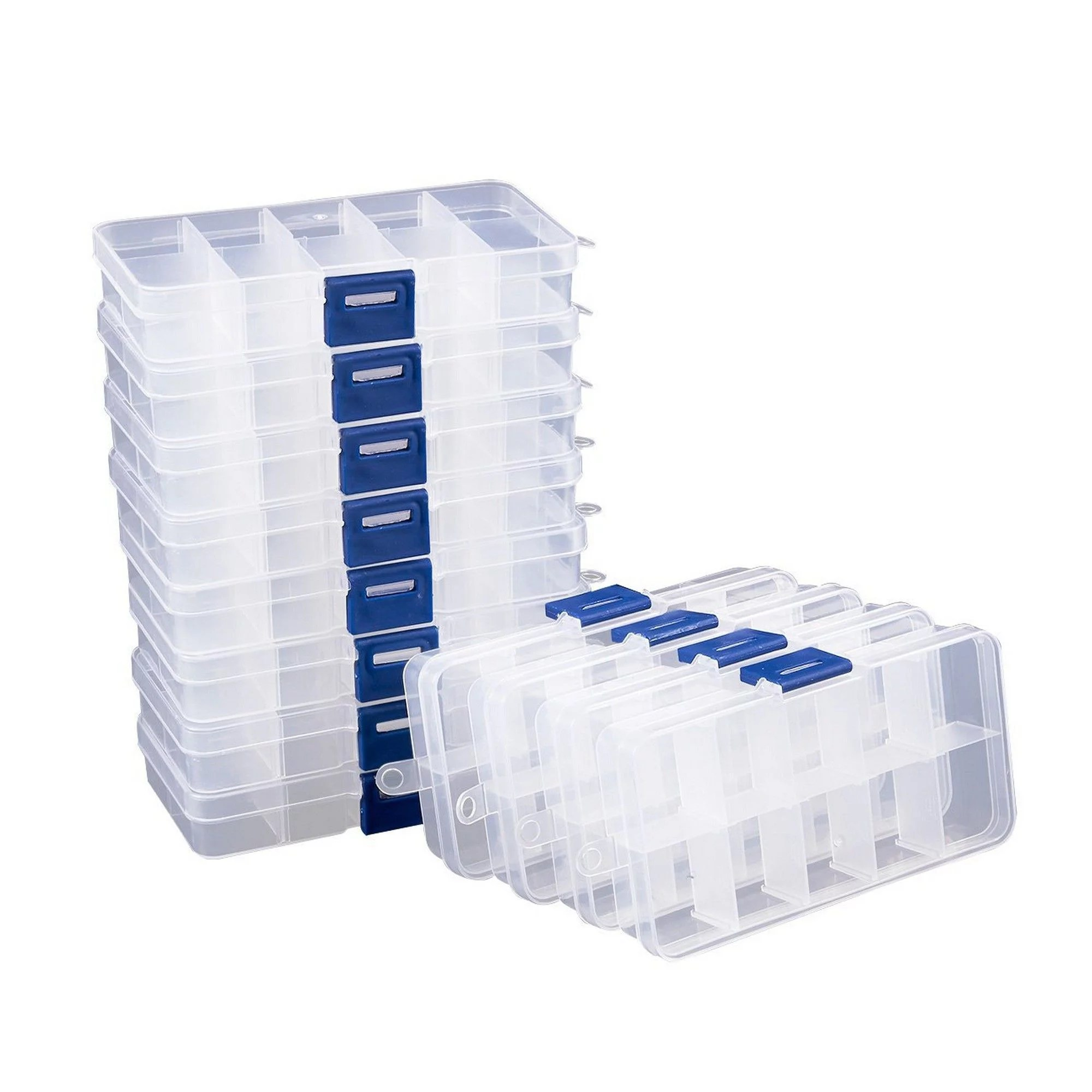 Plastic Jewellery Box : plastic, jewellery, Jewelry, Boxes, Organizers, Clear, Walmart.com